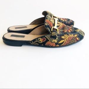 Topshop Carpet Mules with Gold Hardware Sz 38